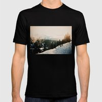 Winter Mountain Hike Mens Fitted Tee Black SMALL