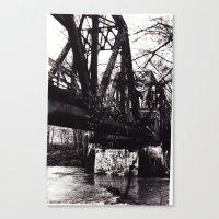 Canvas Print featuring Stencil under the Bridge by Jessica Gray