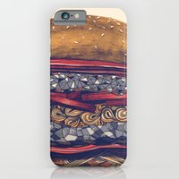 iPhone & iPod Case featuring burger by mr. louis