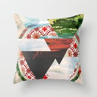 Experimental Abstraction Throw Pillow