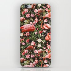 Floral and Flemingo Pattern iPhone & iPod Skin