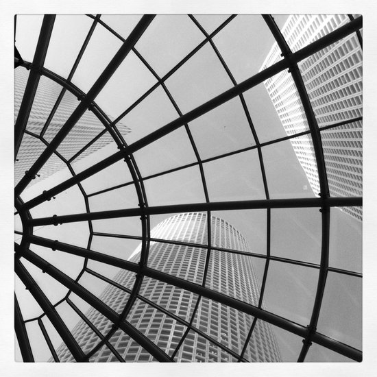 Structure in black & white Art Print