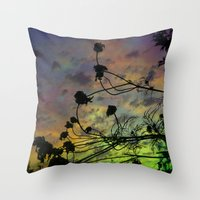 Prism Sun Throw Pillow