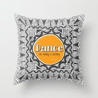 QUOTWAIN (1 of 4) - DANCE V1 Throw Pillow