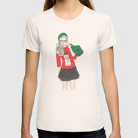 Christmas Fashion Womens Fitted Tee Natural SMALL