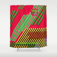 Slicing Pattern—lines and clrs—⁄ ⁄⁄ neå† design!¡!¡!COOOOL!¡!¡!¡! Shower Curtain