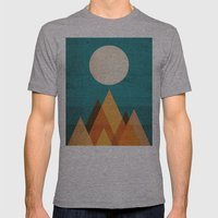 Full Moon Over Sahara De… Mens Fitted Tee Athletic Grey SMALL