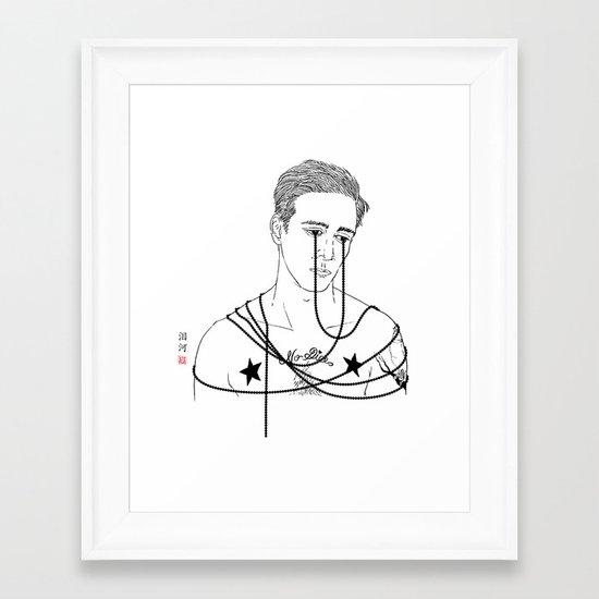 My black pearl dream - Tear River/泪河 Framed Art Print