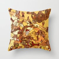 Some Guys Like it Rough Throw Pillow
