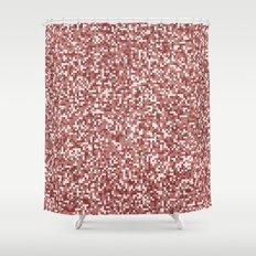Pixel Hash / Digital Mince / Cubistic Hamburger Meat Shower Curtain
