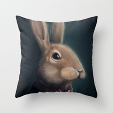 Mr. Rabbit Throw Pillow