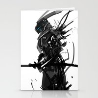 Black And White Tech Zer… Stationery Cards