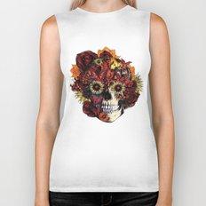Full circle...Floral ohm skull Biker Tank