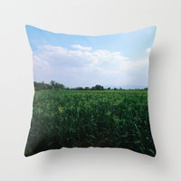 Eyes On Horizon Throw Pillow