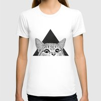 cat T-shirts featuring You asleep yet? by Laura Graves
