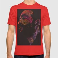 Marvin Gaye Color version Mens Fitted Tee Red SMALL