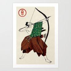 Slice & Dice - Archer Art Print