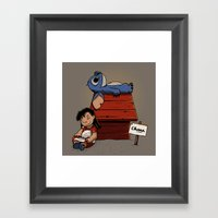 Lilo & Stitch Framed Art Print