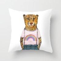 Little Cheetah Throw Pillow