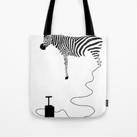 Tote Bag featuring future by Panic Junkie