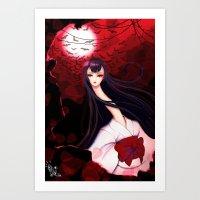 Tears Ft. Rokurokubi Art Print