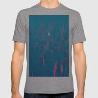Neon Waterfalls Mens Fitted Tee Athletic Grey SMALL