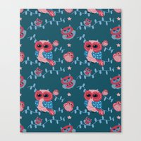 Owls Pattern Canvas Print
