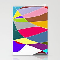 Abstract Lines & Color Stationery Cards
