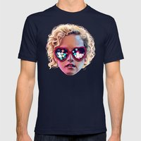 Electrick Girl Mens Fitted Tee Navy SMALL