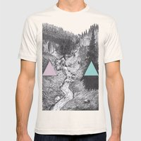 Hidden  Mens Fitted Tee Natural SMALL