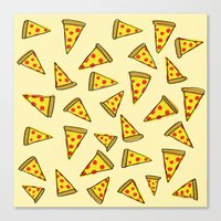 Pizza Party Canvas Print