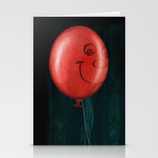 The Boy and the Balloon Stationery Card