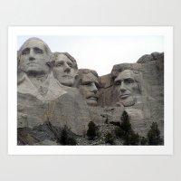 Mount Rushmore National Park Art Print