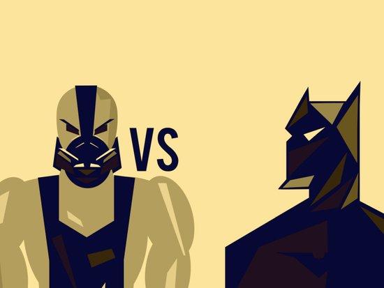 BANE VS THE BAT Art Print