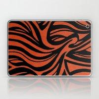 Orange & Black Waves Laptop & iPad Skin