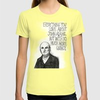 John Quincy Adams : Chock Full O' Quincy. Womens Fitted Tee Lemon SMALL