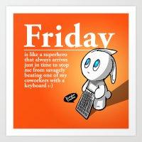 Thank You Friday! Art Print
