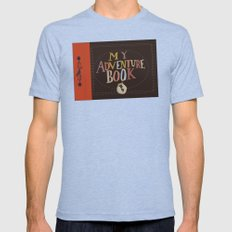 My Adventure Book.. Up, … Mens Fitted Tee Tri-Blue SMALL
