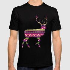 Deer Navajos pattern Mens Fitted Tee SMALL Black