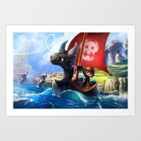 The Dragon Waker Art Print
