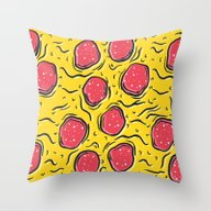 St. Pizza Shreds Throw Pillow