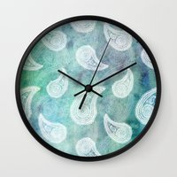 The Deep Blue Paisley Wall Clock