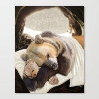 Sweet dreams, Mr Bear Canvas Print