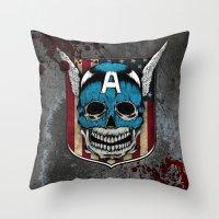 Captain-A Throw Pillow