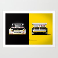 Group B Edition, N.º3, Audi Quattro S1 Art Print