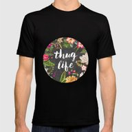 Thug Life Mens Fitted Tee Black SMALL