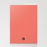 U16 - knit pink Stationery Cards