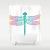 dragonfly v1 Shower Curtain
