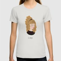 Lucy Moran / Twin Peaks Womens Fitted Tee Silver SMALL