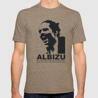 Albizu - Vintage Mens Fitted Tee Tri-Coffee SMALL